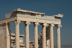 Ancient greek columns at the Parthenon Stock Photos