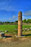 Ancient Greek columns and ruins Stock Image