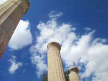 Ancient Greek Columns Stock Photography
