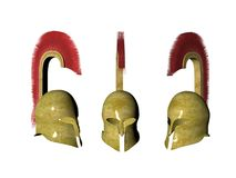 Ancient Greek Crested Helmet vector illustration