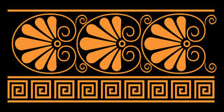 Ancient Greek decorative elements. They were used for vase painting in ancient Greece vector illustration