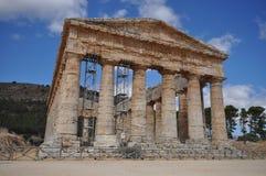 Doric temple in Segesta Stock Photos
