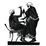 Ancient Greek drawing. Royalty Free Stock Images