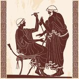 Ancient Greek drawing. Royalty Free Stock Image