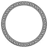 Ancient Greek frame. Round frame in Ancient Greek style isolated on white background royalty free illustration
