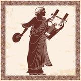 Ancient Greek god . Royalty Free Stock Photo