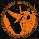 Ancient Greek god Prometheus. vector illustration