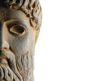 Ancient Greek god statue Stock Photography