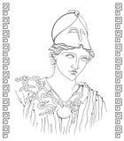 Ancient Greek goddess. Vector illustration of ancient Greek goddess Stock Photos