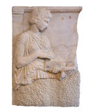 Ancient Greek grave stele (420 B.C) Royalty Free Stock Photography