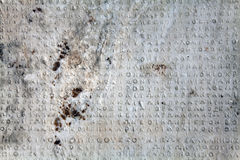 Ancient greek inscription Royalty Free Stock Images