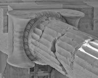 Ancient greek  ionian order column detail Royalty Free Stock Photos