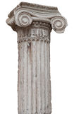 Ancient greek ionic column isolated on white. With clipping path stock image