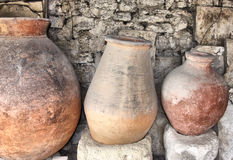 Ancient greek jugs Stock Photo