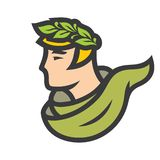 Ancient Greek with laurel wreath. royalty free illustration