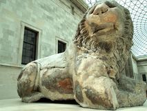 Ancient Greek Lion Statue Royalty Free Stock Photography