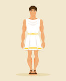 Ancient Greek man. Vector Illustration Royalty Free Stock Photography