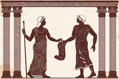 Ancient Greek man and woman. royalty free stock photo