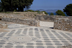 Ancient greek mosaic in Empuries Stock Photography