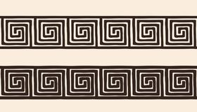 Ancient Greek ornament. Seamless Ancient Greek national ornament isolated on beige background Royalty Free Stock Images