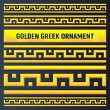 Golden ancient Greek ornament royalty free illustration