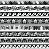 Ancient Greek pattern - seamless set of antique borders from Greece Royalty Free Stock Image