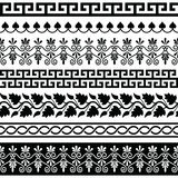 Ancient Greek pattern - seamless set of antique borders from Greece Stock Photos