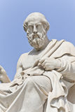 The ancient Greek philosopher Platon. Platon in front of the National Academy of Athens, Greece Stock Photography