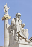 The ancient Greek philosopher Socrates. Socrates in front of the National Academy of Athens, Greece Royalty Free Stock Photography
