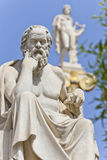 The ancient Greek philosopher Socrates. Socrates in front of the National Academy of Athens, Greece Stock Photo