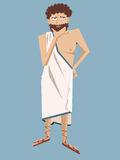 Ancient greek philosopher vector cartoon Stock Photo