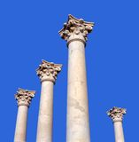 Ancient greek pillars Royalty Free Stock Photo