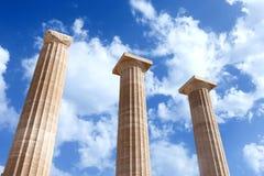 Ancient Greek pillars Royalty Free Stock Photos