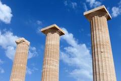 Ancient Greek pillars Stock Images