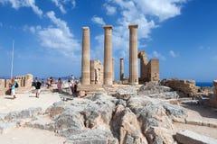 Ancient Greek pillars Stock Photo