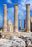 Ancient Greek pillars Stock Photos