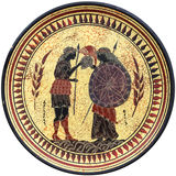 Ancient Greek plate Stock Images