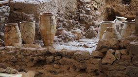 Free Ancient Greek Pots At Archeological Excavation Stock Image - 159174951