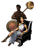 Ancient Greek queen Royalty Free Stock Photos