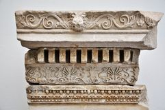 Ancient greek relief detail Stock Photos
