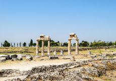 The ancient Greek and Roman city of Hierapolis Stock Images