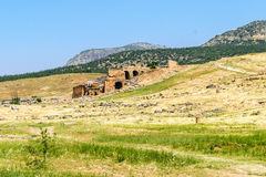 The ancient Greek and Roman city of Hierapolis Royalty Free Stock Photography