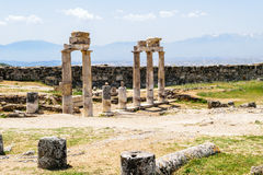 The ancient Greek and Roman city of Hierapolis Royalty Free Stock Photos
