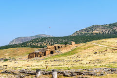The ancient Greek and Roman city of Hierapolis Stock Photography