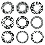 Ancient Greek round pattern - seamless set of antique borders from Greece Royalty Free Stock Image