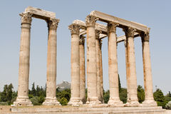 Ancient Greek ruins stock photography