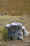 Ancient Greek ruins. Details of ancient Greek ruins in field, Amphipolis, Greece Royalty Free Stock Photos