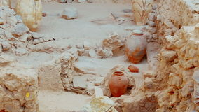 Ancient Greek Ruins Amphora Wide Angle stock video footage