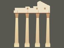 The ancient Greek ruins. Ancient columns, landmark turkey. Stock Image