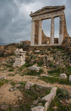 Ancient Greek ruins at the archaeological island of Delos Royalty Free Stock Photography